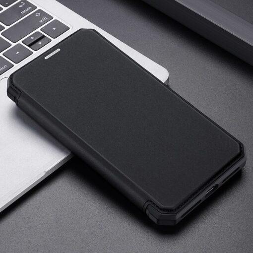 iPhone 11 kunstnahast kaaned kaarditaskuga DUX DUCIS Skin Pro must 19