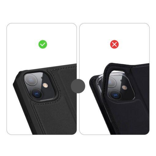iPhone 11 kunstnahast kaaned kaarditaskuga DUX DUCIS Skin Pro must 9