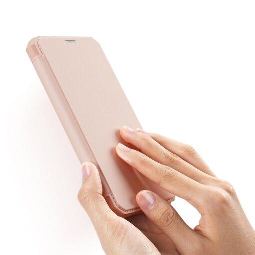iPhone 11 kunstnahast kaaned kaarditaskuga DUX DUCIS Skin Pro roosa 1
