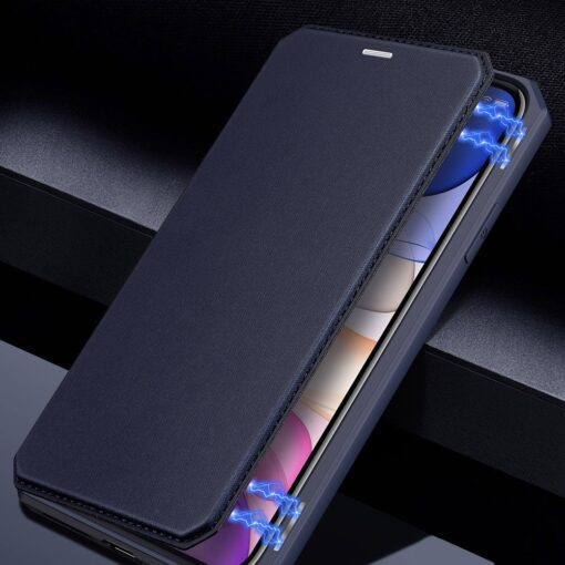 iPhone 11 kunstnahast kaaned kaarditaskuga DUX DUCIS Skin Pro roosa 12