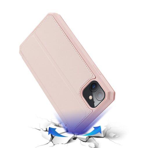 iPhone 11 kunstnahast kaaned kaarditaskuga DUX DUCIS Skin Pro roosa 3