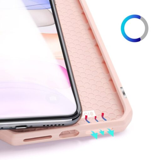 iPhone 11 kunstnahast kaaned kaarditaskuga DUX DUCIS Skin Pro roosa 7