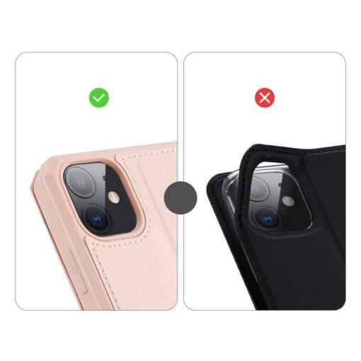 iPhone 11 kunstnahast kaaned kaarditaskuga DUX DUCIS Skin Pro roosa 8