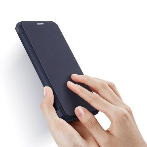iPhone 11 kunstnahast kaaned kaarditaskuga DUX DUCIS Skin Pro sinine 1