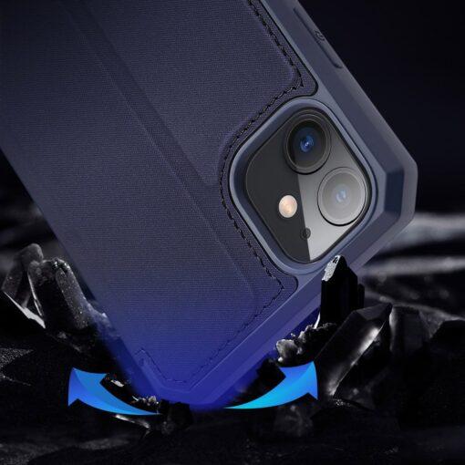 iPhone 11 kunstnahast kaaned kaarditaskuga DUX DUCIS Skin Pro sinine 13