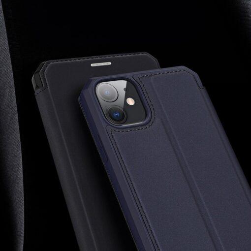 iPhone 11 kunstnahast kaaned kaarditaskuga DUX DUCIS Skin Pro sinine 16