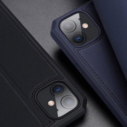 iPhone 11 kunstnahast kaaned kaarditaskuga DUX DUCIS Skin Pro sinine 17