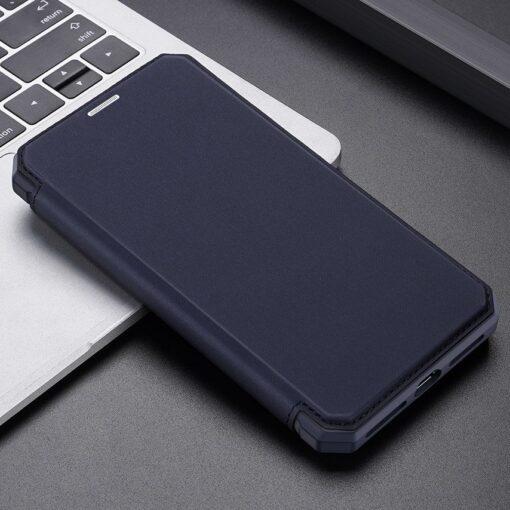 iPhone 11 kunstnahast kaaned kaarditaskuga DUX DUCIS Skin Pro sinine 19
