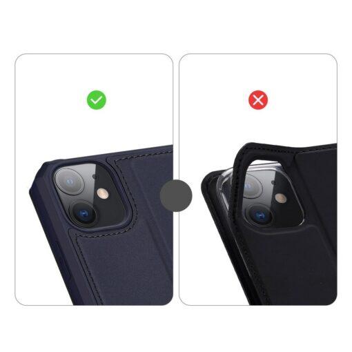 iPhone 11 kunstnahast kaaned kaarditaskuga DUX DUCIS Skin Pro sinine 9