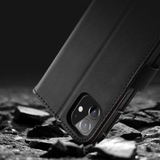iPhone 11 nahast raamatkaaned Dux Ducis Hivo must 15