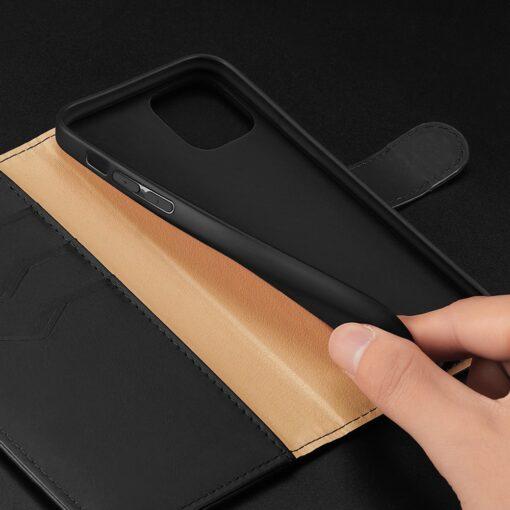 iPhone 11 nahast raamatkaaned Dux Ducis Hivo must 18