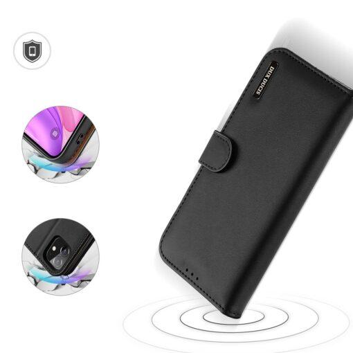 iPhone 11 nahast raamatkaaned Dux Ducis Hivo must 2