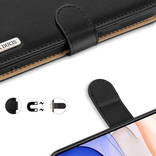 iPhone 11 nahast raamatkaaned Dux Ducis Hivo must 5