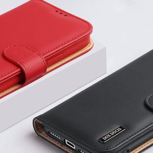 iPhone 11 nahast raamatkaaned Dux Ducis Hivo punane 11