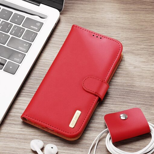 iPhone 11 nahast raamatkaaned Dux Ducis Hivo punane 13