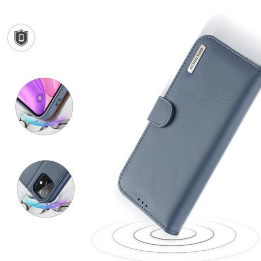 iPhone 11 nahast raamatkaaned Dux Ducis Hivo sinine 2
