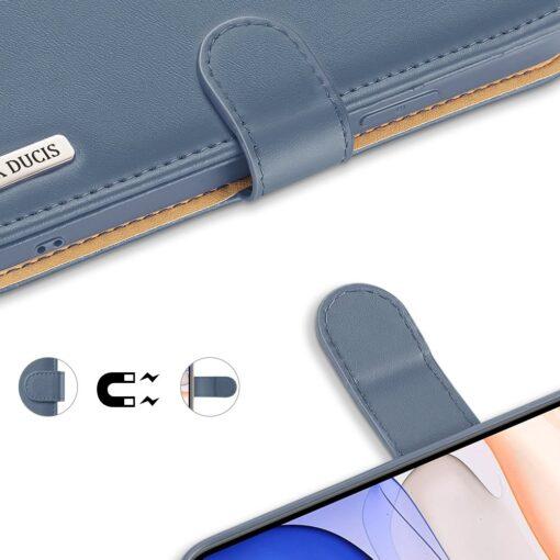 iPhone 11 nahast raamatkaaned Dux Ducis Hivo sinine 3