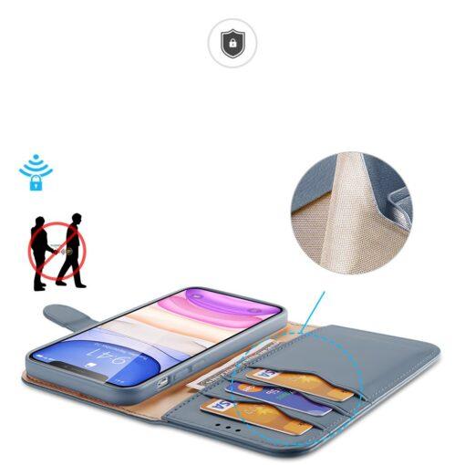 iPhone 11 nahast raamatkaaned Dux Ducis Hivo sinine 5