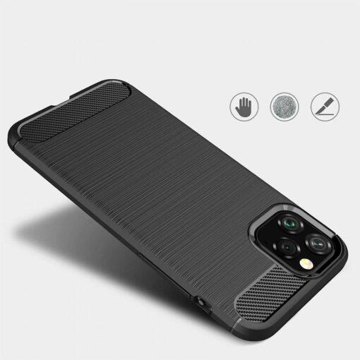 iPhone 11 umbris silikoonist Carbon must 3