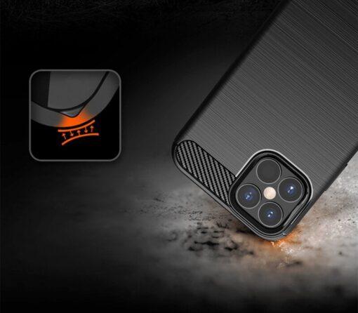 iPhone 12 12 Pro umbris silikoonist Carbon must 5