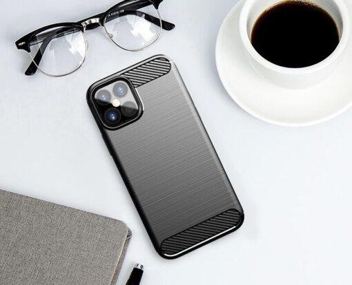 iPhone 12 12 Pro umbris silikoonist Carbon sinine 2
