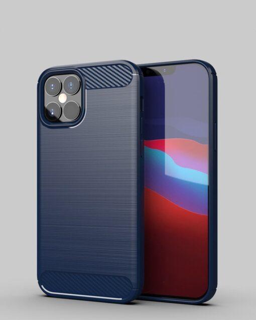 iPhone 12 12 Pro umbris silikoonist Carbon sinine 3
