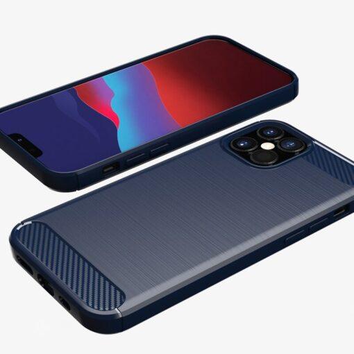 iPhone 12 12 Pro umbris silikoonist Carbon sinine 5