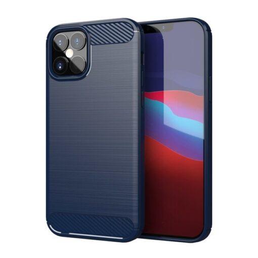 iPhone 12 12 Pro umbris silikoonist Carbon sinine
