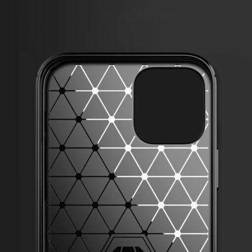 iPhone 12 12 Pro umbris silikoonist Carbon sinine 6