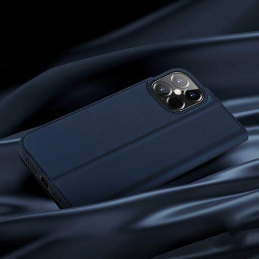 iPhone 12 Pro Max kunstnahast kaaned DUX DUCIS Skin Pro Bookcase kuldne 10
