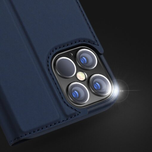 iPhone 12 Pro Max kunstnahast kaaned DUX DUCIS Skin Pro Bookcase kuldne 15