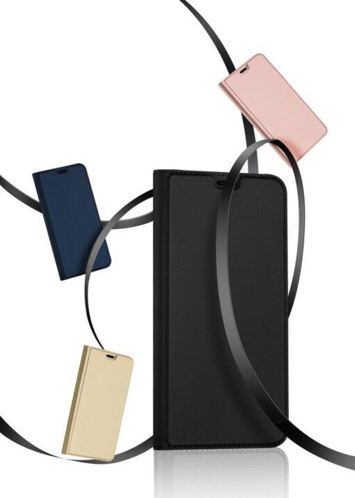 iPhone 12 Pro Max kunstnahast kaaned DUX DUCIS Skin Pro Bookcase kuldne 19