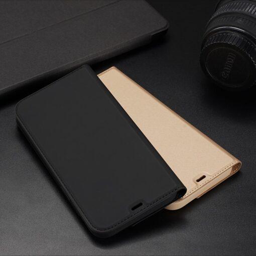 iPhone 12 Pro Max kunstnahast kaaned DUX DUCIS Skin Pro Bookcase kuldne 22