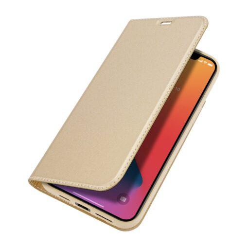 iPhone 12 Pro Max kunstnahast kaaned DUX DUCIS Skin Pro Bookcase kuldne 3