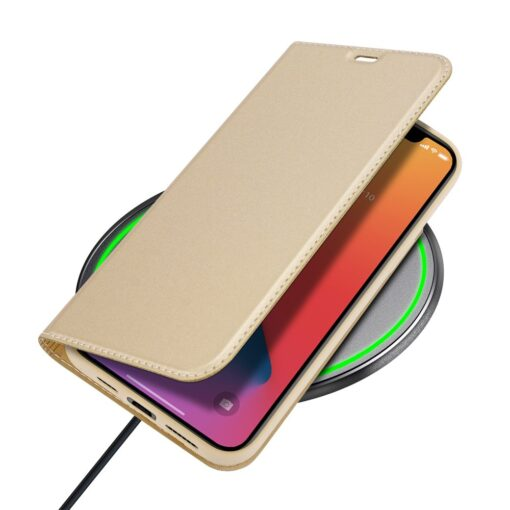 iPhone 12 Pro Max kunstnahast kaaned DUX DUCIS Skin Pro Bookcase kuldne 6
