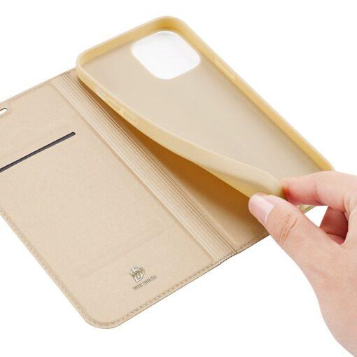 iPhone 12 Pro Max kunstnahast kaaned DUX DUCIS Skin Pro Bookcase kuldne 8