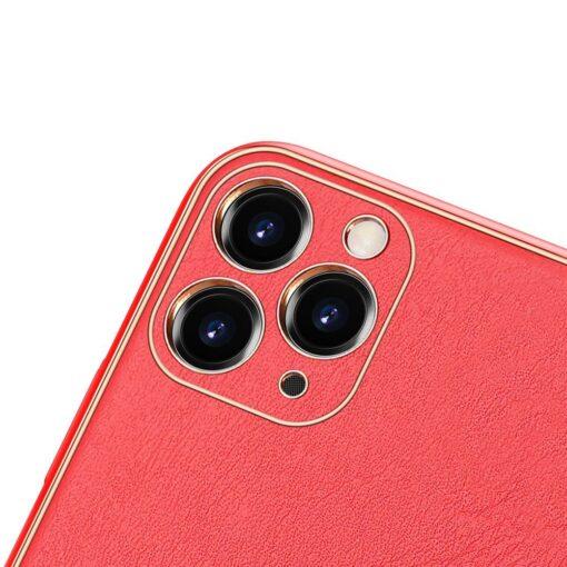 iPhone 12 Pro Max umbris Dux Ducis Yolo elegant kunstnahast ja silikoonist servadega punane 2