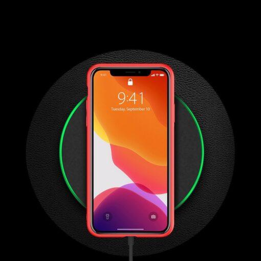 iPhone 12 Pro Max umbris Dux Ducis Yolo elegant kunstnahast ja silikoonist servadega punane 8