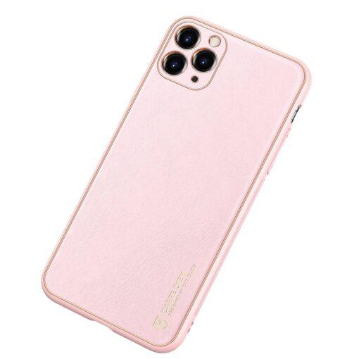 iPhone 12 Pro Max umbris Dux Ducis Yolo elegant kunstnahast ja silikoonist servadega roosa 1