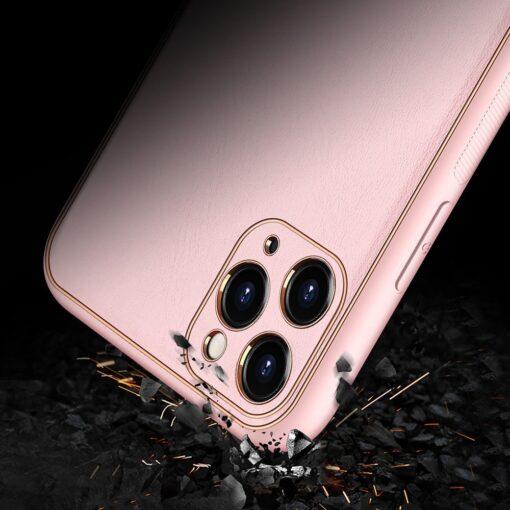 iPhone 12 Pro Max umbris Dux Ducis Yolo elegant kunstnahast ja silikoonist servadega roosa 7