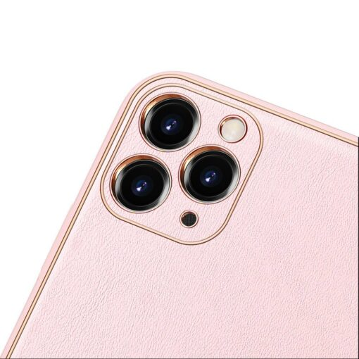 iPhone 12 Pro Max umbris Dux Ducis Yolo elegant kunstnahast ja silikoonist servadega roosa 9