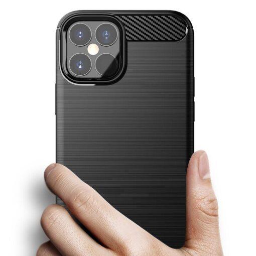iPhone 12 Pro Max umbris silikoonist Carbon must 1