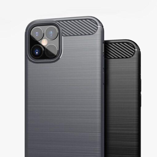 iPhone 12 Pro Max umbris silikoonist Carbon must 10