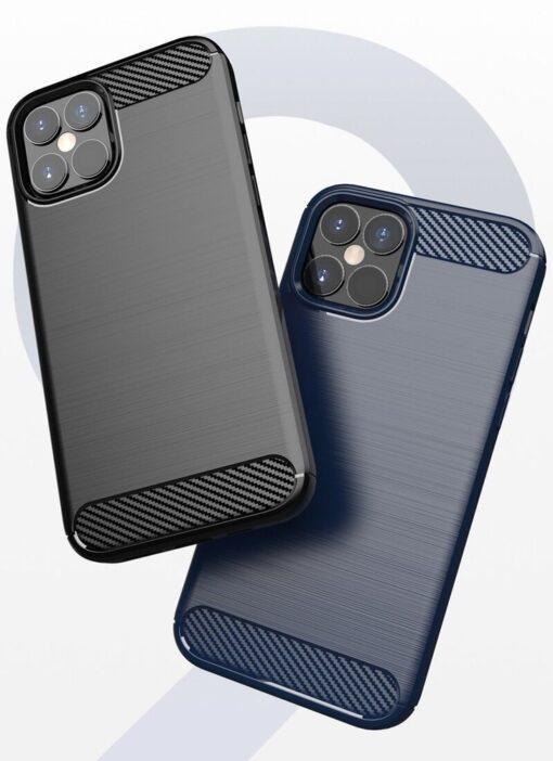 iPhone 12 Pro Max umbris silikoonist Carbon must 11