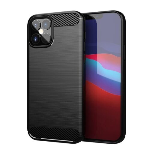 iPhone 12 Pro Max umbris silikoonist Carbon must