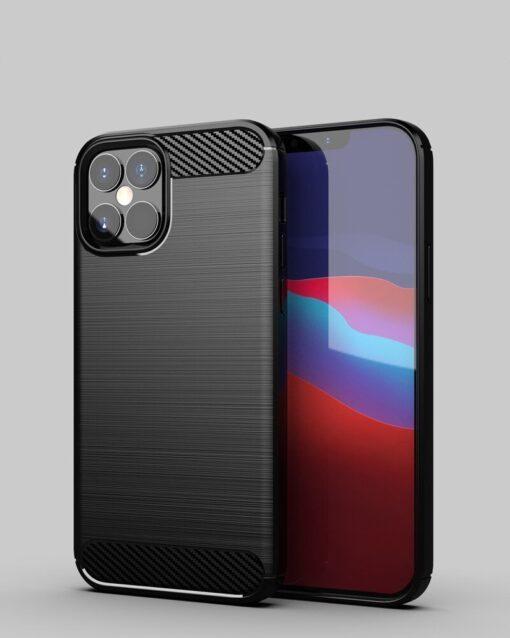 iPhone 12 Pro Max umbris silikoonist Carbon must 7