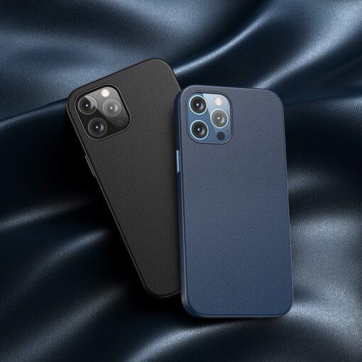 iPhone 12 ja 12 Pro Baseus kunstnahast umbris MagSafe sinine 10