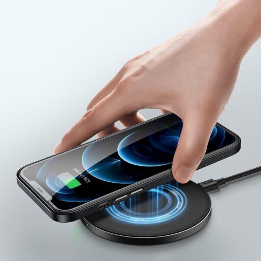 iPhone 12 ja 12 Pro Baseus kunstnahast umbris MagSafe sinine 13