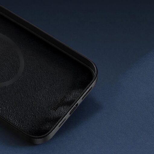 iPhone 12 ja 12 Pro Baseus kunstnahast umbris MagSafe sinine 14