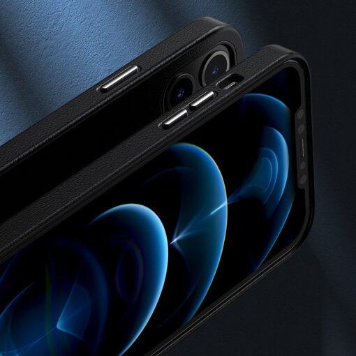 iPhone 12 ja 12 Pro Baseus kunstnahast umbris MagSafe sinine 16